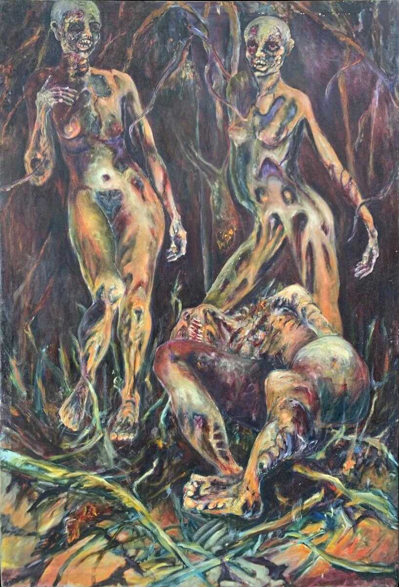 Swamp Rats - Oil on Canvas - 48 x 78